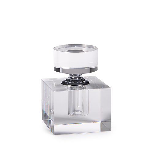 Substantial Glass Cologne Bottle Small Cube
