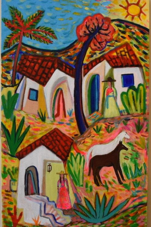 Neighbors and Horses By Pedro de la Cruz