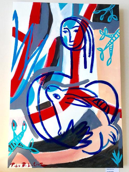 Girl with Rabbit by Pedro de la Cruz