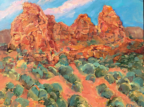 Red Rock Sunset Sedona By Kathleen Elsey