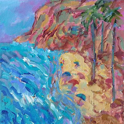 Blue Beachhouse By Kathleen Elsey