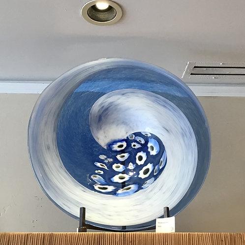 Hand-blown Glass Blue Disc