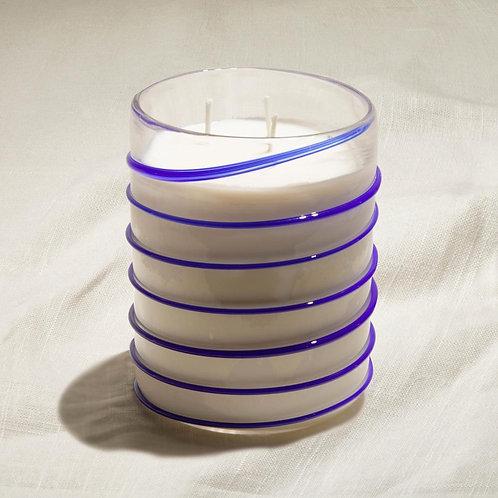 Expression - Lapis Blue Large Swirl Candle