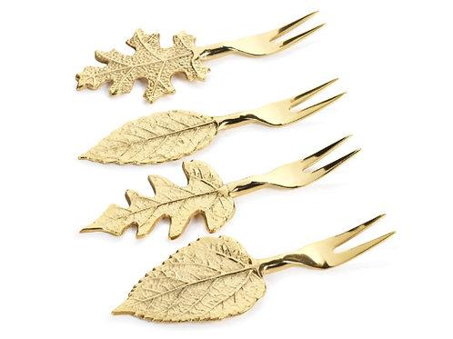 Gold Leaf Cocktail Forks
