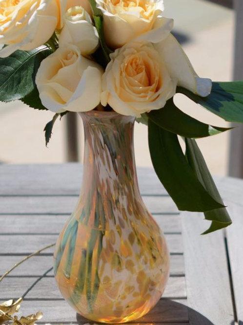 Taupe and Cream Hourglass Vase