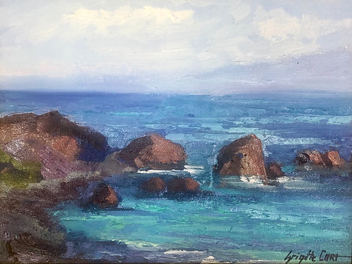 Turquoise Waters By Brigitte Curt