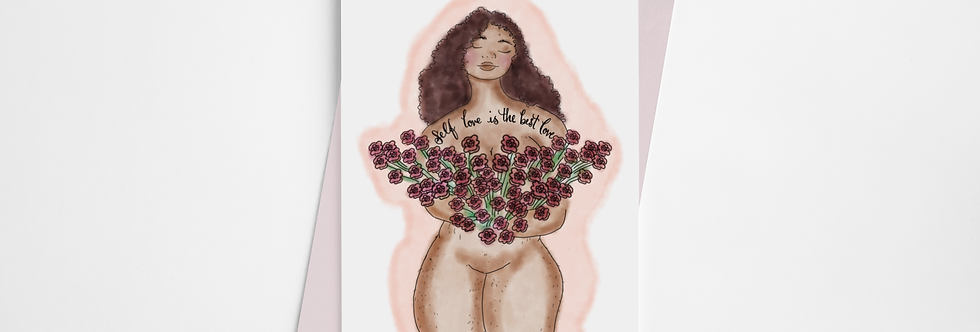 Self Love Is The Best Love Greeting Card