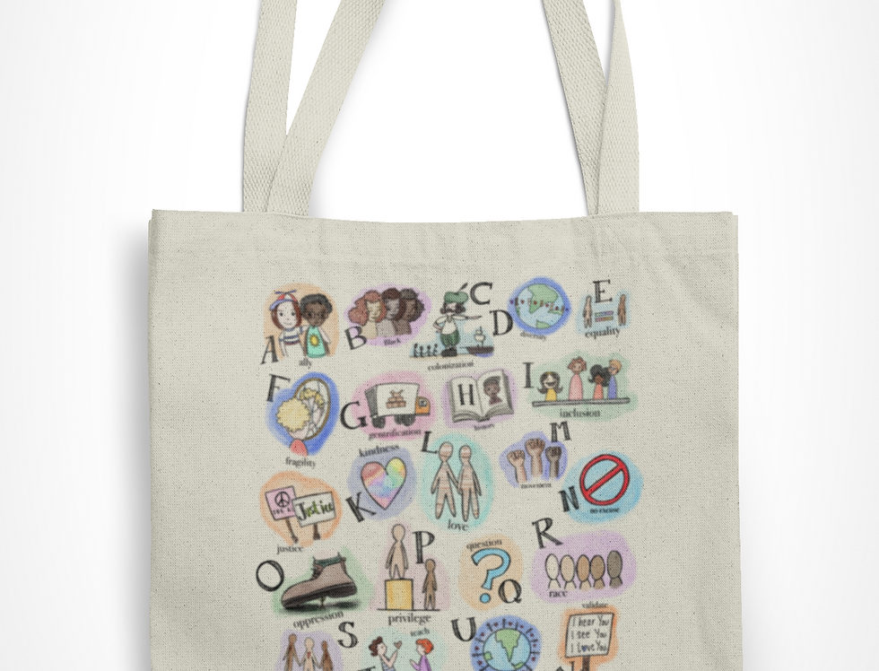 Market Tote - A is for Ally