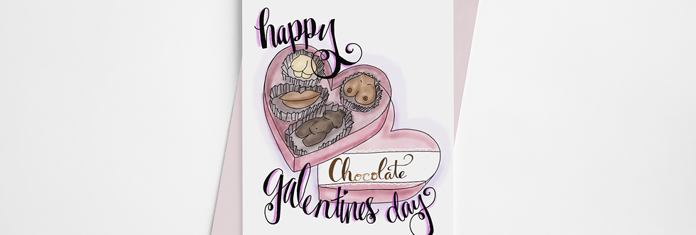 Galentines Day Greeting Card