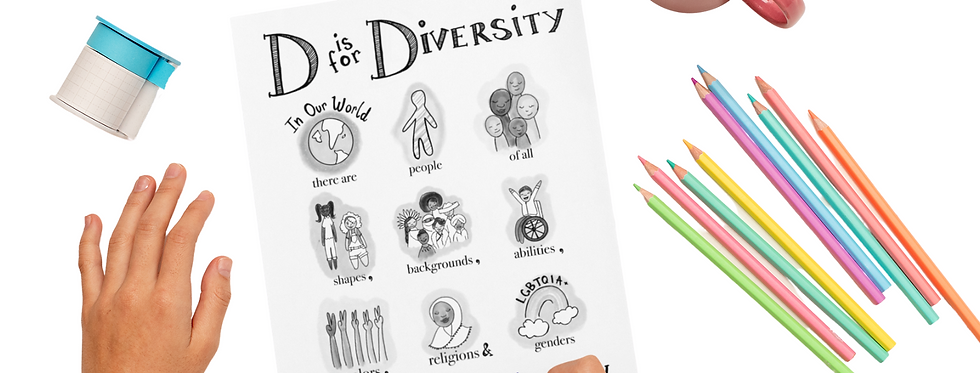 D is for Diversity Coloring Sheet