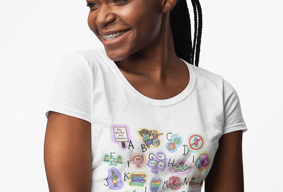 F is For Feminism Womxn's Tee