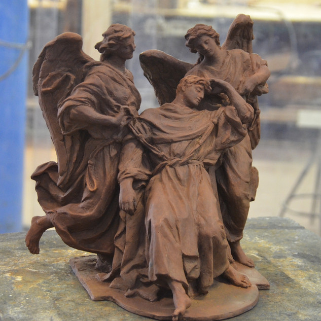 St Thomas Aquinas Girded by Two Angels