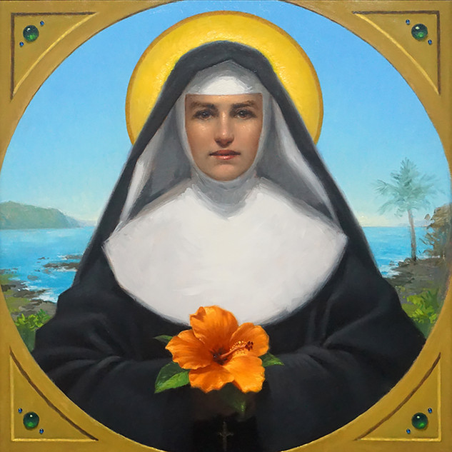 "3rd Prize, ""St. Marianne of Moloka"" by Neilson Carlin"