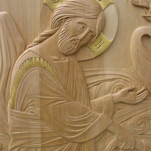 Christ pulls St. Peter from the water (detail)