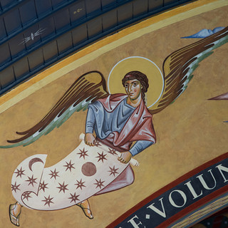 """Finalist, """"An Angel of the Apocalypse"""" by Martin Earle Murals at St. Francis of Assisi (UK)"""