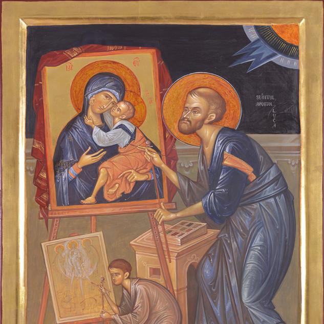 "Honorable Mention, ""Saint Apostle Luke"" by Elena Murariu"