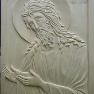 "St-John the forerunner. 9"" x 12"" in linden"