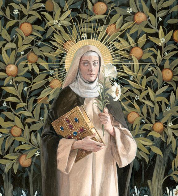 """Finalist """"St Catherine of Siena"""" by Bernadette Cartensen"""