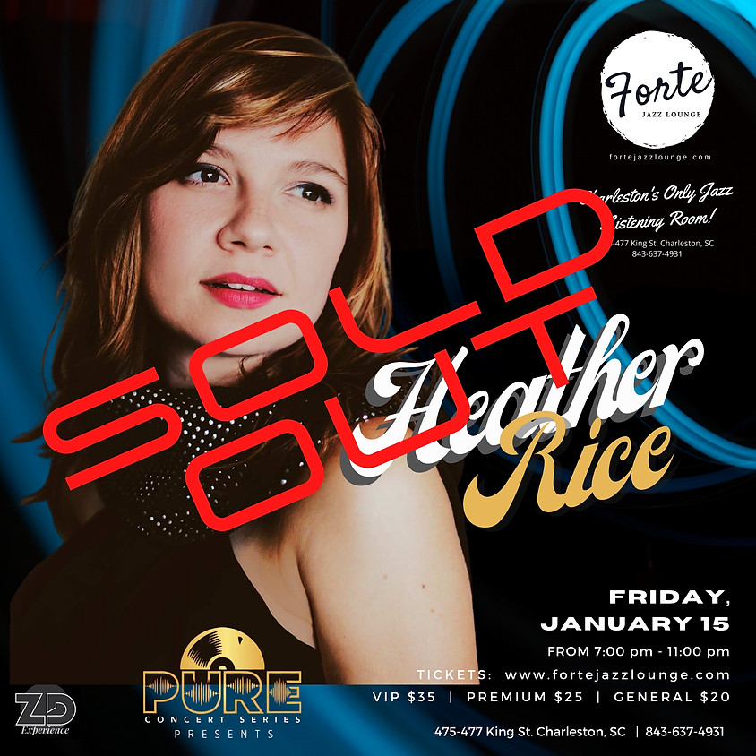 Pure Concert Series presents Heather Rice | 7:00pm - 11:00pm