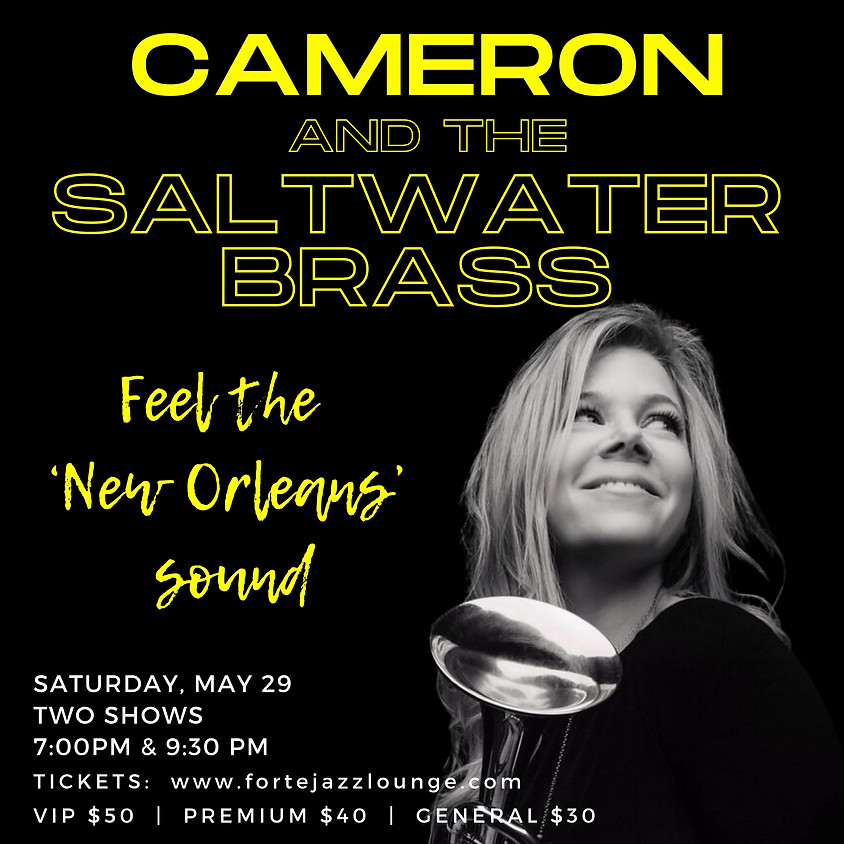 Cameron Handel & Saltwater Brass | 9:30pm-11:00pm