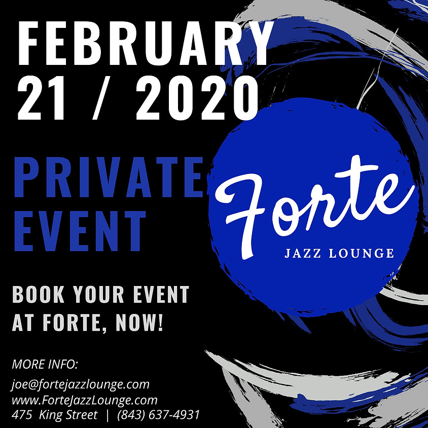 Private Event : Book Yours Today