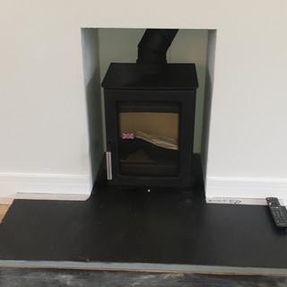 Compact Wood Burner Installation