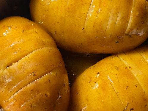 Lemon & Coriander Hasselback Potatoes
