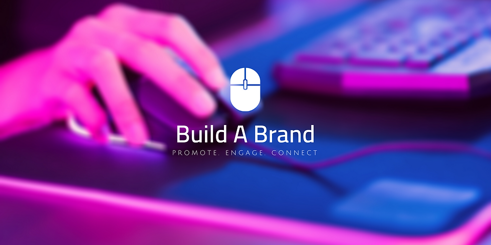 person using a desktop pc designing a website at Build A Brand