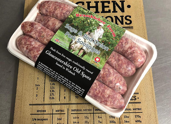 Sage & Red Onion sausages