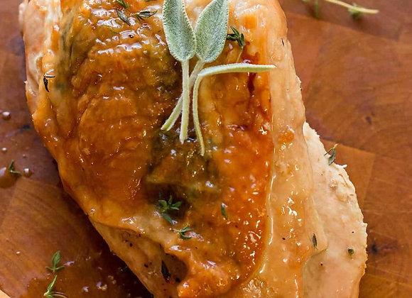 Stuffed Free Range Turkey Breasts Wrapped in Bacon