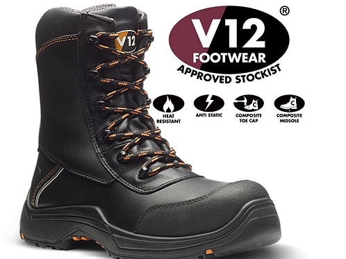 V12 Defiant IGS S3 HRO High Leg Zip Safety Boot E1300.01