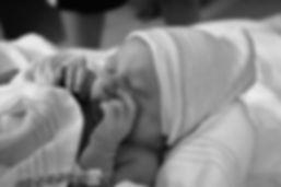 newborn baby eyes closed