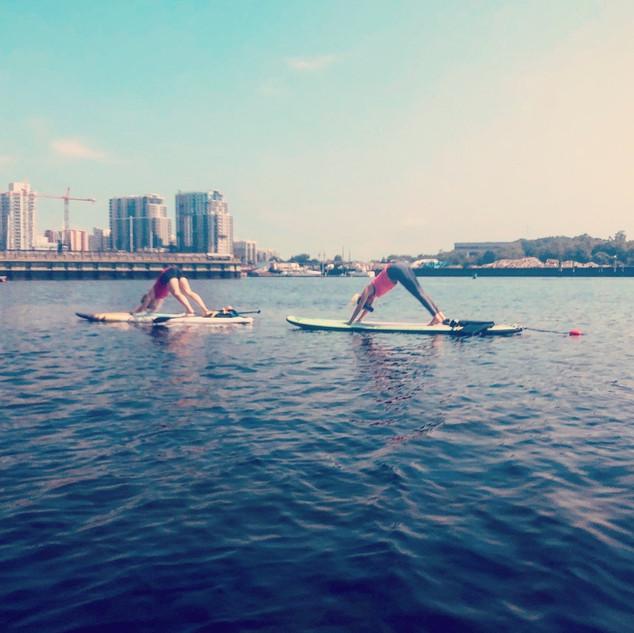 Yoga In Waves - paddle yoga