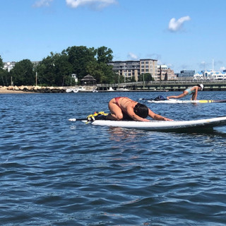 YogaInWaves paddle board yoga