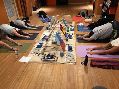YogaInWaves yin yoga & intuitive paintin