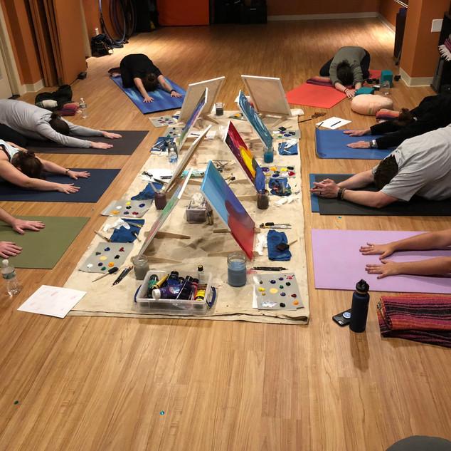 YogaInWaves yin yoga & intuitive painting