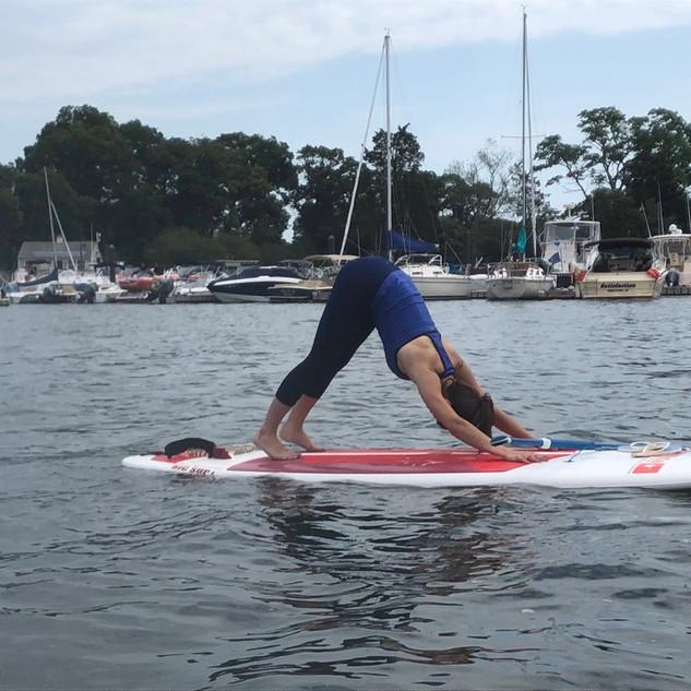 Yoga In Waves paddle board yoga