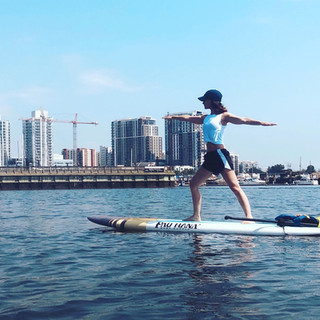 Yoga In Waves - paddle yoga
