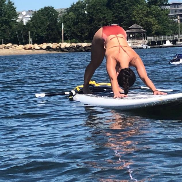 YogaInWaves paddle board yoga