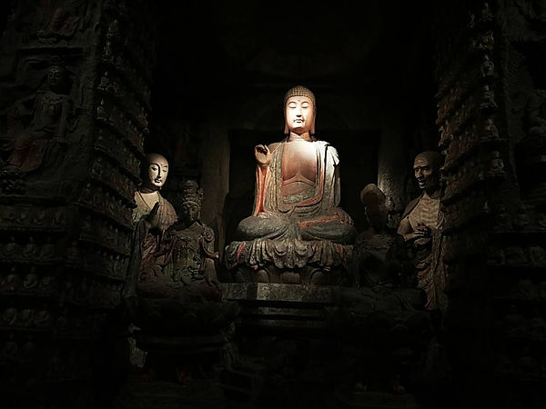 Buddhs's statue in Dunghuang