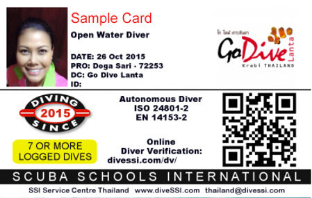 PADI and SSI dive centers seem to have the advantage of being able to access a database of students and certifications online, so if you ever forget your ...