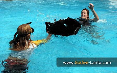 Training in Swimming Pool