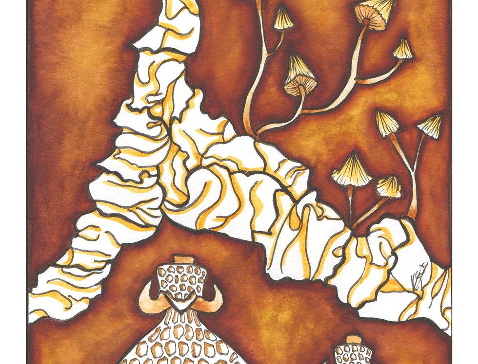 Mycena Epipterygia Print