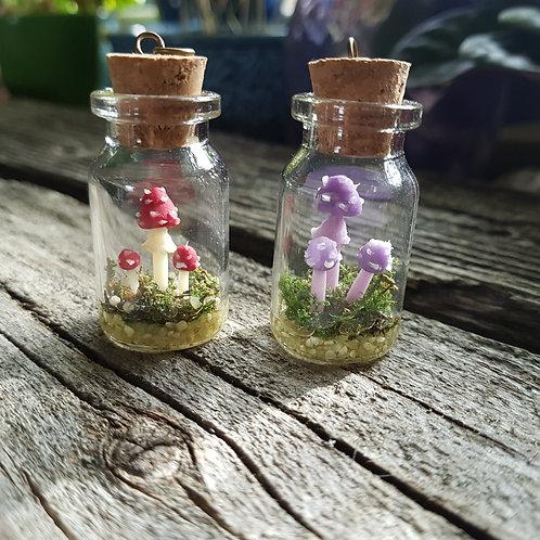 Mushroom Garden Necklace - Trio