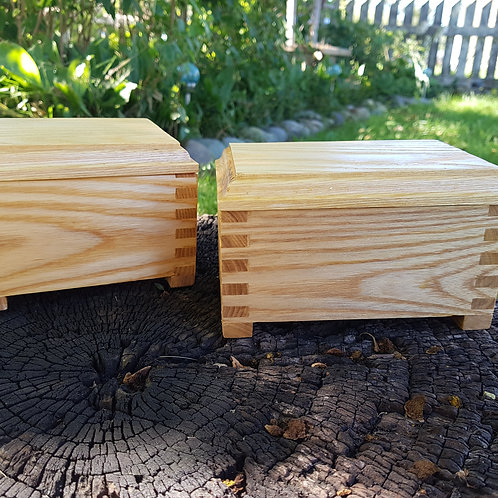 OOAK Oak Trinket Boxes
