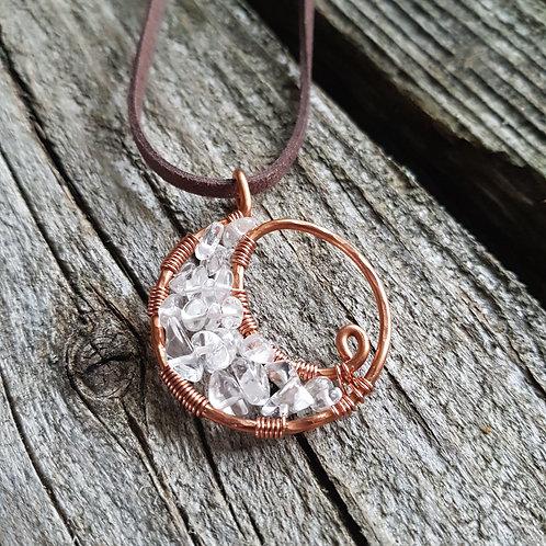 Copper Moon Mini Necklace