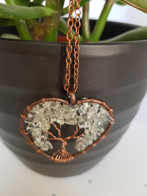 Tree Of Life Gem Stone Necklace