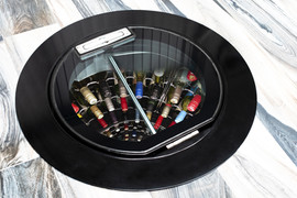 New Mark 2 Wine Cellar Pod steel and glass hatch for this superb underground wine cellar.