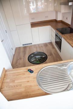 Wine Cellar Pod in small kitchen.