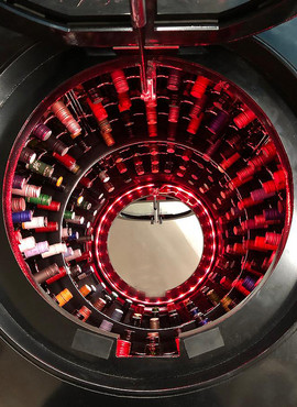 Wine Cellar illusion of 224 bottles